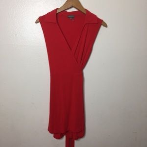 Vince camuto red wrap dress